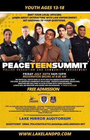 Lakeland Police Department Peace Teen Summit