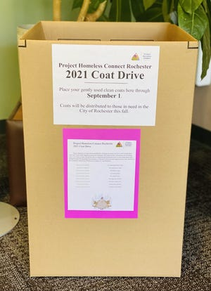 Project Homeless Connect Rochester will hold its annual coat drive on Sept. 15 at the Rochester Public Market. Donations can be dropped off at Webster Public Library, 980 Ridge Road, during business hours from 9 a.m. to 6 p.m. on Mondays-Fridays and 11 a.m. to 3 p.m. on Saturdays through Sept. 1.