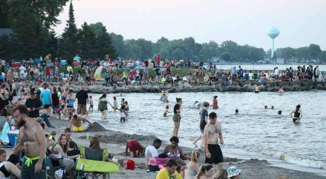 Lake Erie waters in Monroe County, like this one in the City of Luna Pier during a recent Freedom Festival, are clean and considered exceptional.