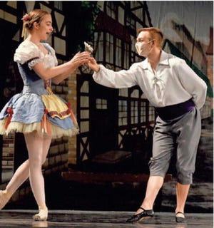 """Erika Bressler dances the role of Swanhilda in the River Raisin Ballet Company's spring performance of """"Coppelia."""" Monroe News photo by Tom Hawley"""