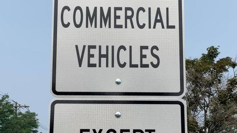 Holliston wins right to ban commercial trucks on several of its streets
