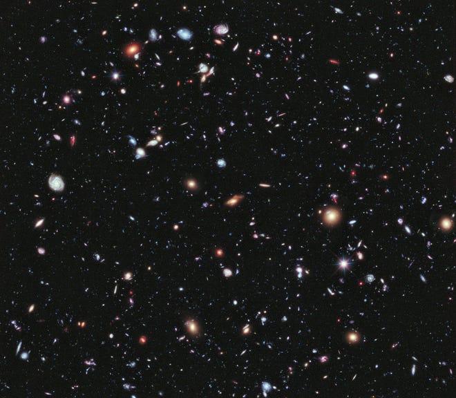Hubble Deep Field image.