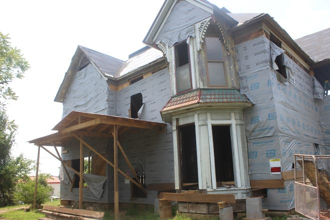 The Lewis Bryan in Van Buren is a home built in 1886. It is currently being renovated to match its original appearance.