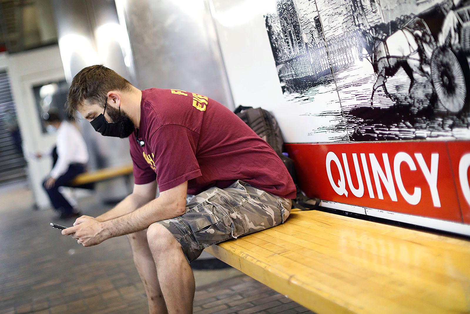 """""""I'd still be wandering around the streets of Quincy without the Red Line,"""" said PatrickGrillo, a rider, on a recent morning commute."""
