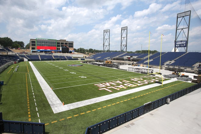 Tom Benson Hall of Fame Stadium in Canton will be getting national exposure the next two weekends hosting high school and college football games.