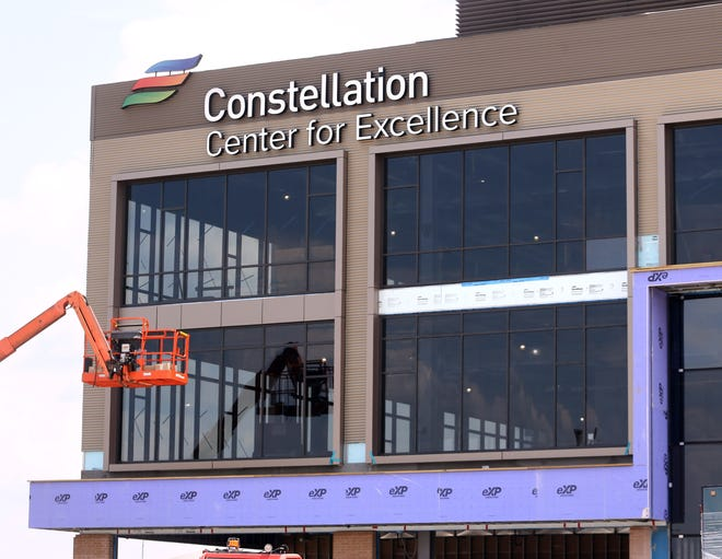 """The Constellation Center for Excellence is nearing completion at the Hall of Fame Village powered by Johnson Controls. The multi-use building is at the west end of Tom Benson Hall of Fame Stadium and will be home to """"sports-centric research and programming"""" operations."""