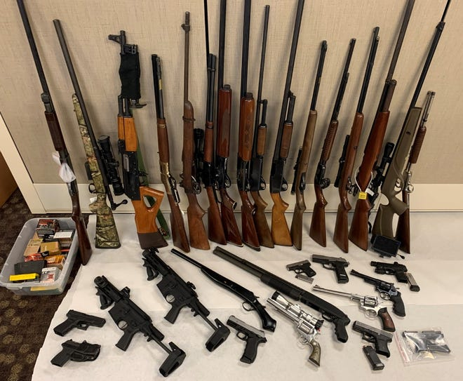The Rockford Police Department recovered 43 guns after a drug bust on 19th Street in Rockford.