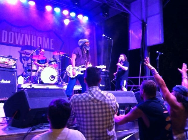 NIL8 performs at the 2018 Downhome Music Festival in Springfield.