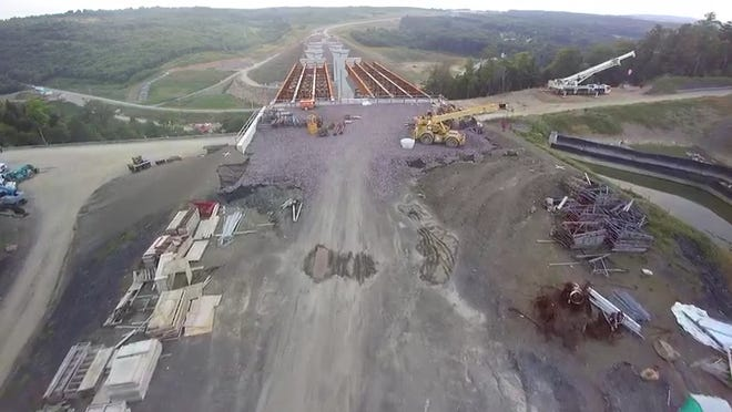 Drone footage of Route 219 constuction 2016