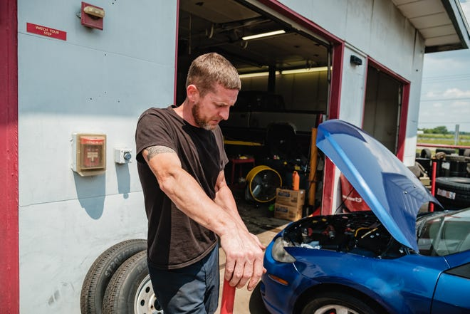Mark McNutt, manager of Buckeye Tire and Brake, talks about dealing with the recent surge in catalytic converter thefts at the New Philadelphia shop, where a security camera was also stolen.