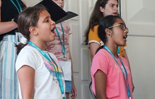 South Shore Children's Chorus Summer Chorale singers, Summer 2021.