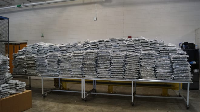 Customs and Border Protection's (CBP) Office of Field Operations seized more than a ton of marijuana at the Fort Street Cargo Facility on Wednesday, July 21, for the second time in a month.