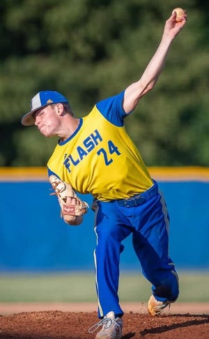 Henderson Flash pitcher Gavin Braunecker was named the Ohio Valley League's pitcher of the year on Monday.
