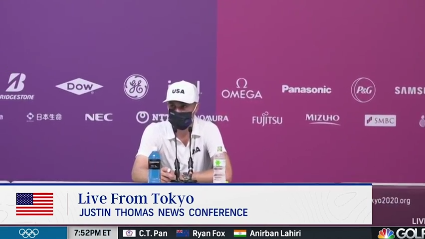 Justin Thomas embracing the experience of the Olympics