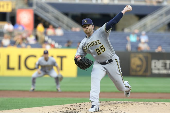 Veteran left-hander Brett Anderson cruised through six scoreless innings Tuesday night, allowing only three hits, to score his first victory since April 17. That one also came against the Pirates.