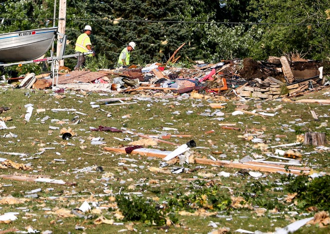Scenes during the home explosion Tuesday, July 27, 2021, in Jefferson County. Authorities got a call a little before 2 p.m., one person is confirmed dead.