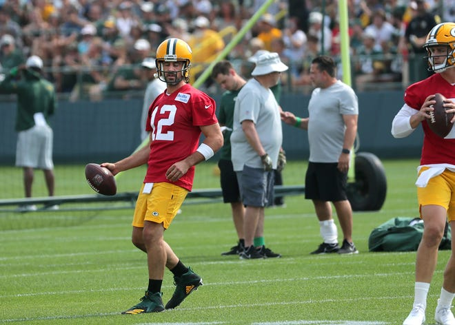 Aaron Rodgers didn't mince words after his first practice during training camp.