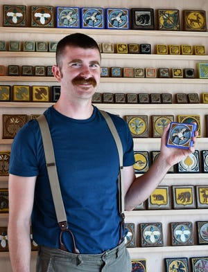 Ben Tyjeski, a local art teacher, is working on a book about the Continental Faience and Tile Company, which was located in South Milwaukee from 1923-43. He has also started creating his own tile art.