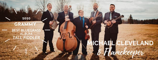 Acclaimed Bluegrass fiddle player Michael Cleveland and his group, Flamekeeper.