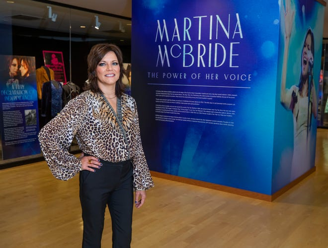 Martina McBride is photographed in her new exhibit at the Country Music Hall of Fame Tuesday, July 27, 2021.