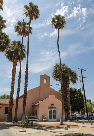 The old Coachella Library at 1538 Seventh Street in downtown Coachella, Wednesday, July 28, 2021.