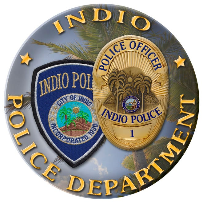 An Indio Police Department patch.