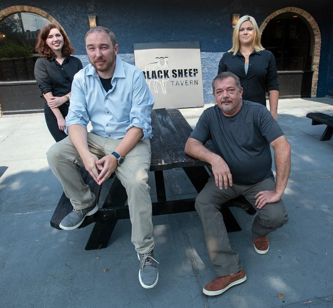 Black Sheep Tavern owner Simon Courtney, front left, and his management staff, Rachel Gaspard, Breezi Youngren and John Smith, are looking to bring a new dining and bar experience to the East Pensacola Heights area in early September.