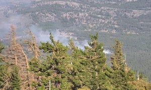 The Valley Fire burns on July 27, west of Peavine Peak.