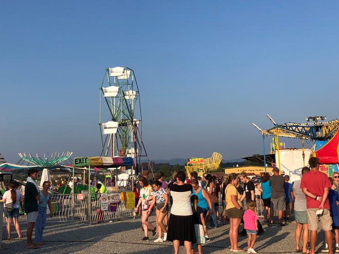 The opening night of the Augusta County Fair attracted hundreds of people.