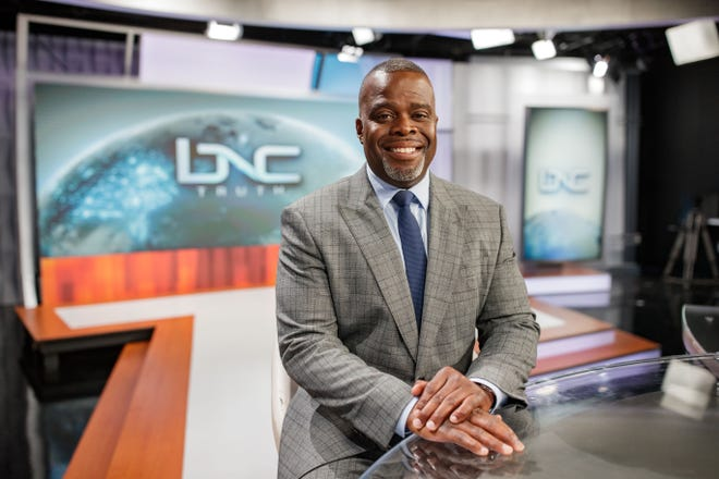 President of the Black News Channel Princell Hair poses for a portrait Wednesday, July 28, 2021.