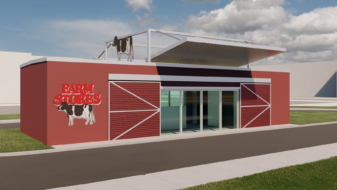 A 3D rendering of the first Farm Stores location in Tallahassee displays the layout of the drive-thru-only shop. The new convenience store is slated to open in October.