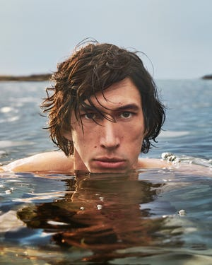 In the advertisement Adam Driver rises out of the water as one with the horse that was also featured in the video.