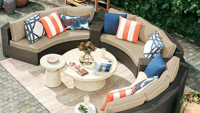 Frontgate's 30th Anniversary Sale features a plethora of furniture on sale, like this 5-piece bronze finish sofa set.