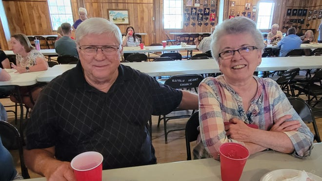 Bill and Carol Kadura were among the descendants of Joseph and Mary Kadura who gathered on July 25 for the family's annual reunion.