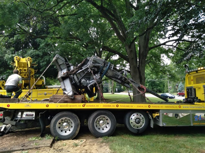 The anti-aircraft gun displayed outside Silver Lake Village Hall was removed by John and Jeff Drumm in mid-June. It has been moved to an undisclosed location in Portage County. Mayor Bernie Hovey has said he would like to install a veterans memorial in the area where the gun was displayed.