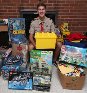 Sam Gielink is an Eagle award candidate from Twinsburg's Troop 223. He has been collecting Lego blocks and kits to benefit The Gathering Place, an organization that offers services to those living with cancer or touched by cancer.