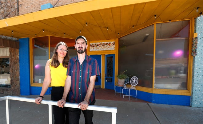 Partners Andrew Weathers and Gretchen Korsmo run the Wind Tide Studio, a music and visual arts studio where Full Spectrum Records is based in downtown Littlefield.