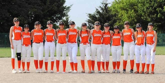 The Cheboygan Little League Junior Girls All-Star softball team recently competed in a state tournament in Byron Center, making it to the semifinal round before falling to eventual tournament champion Hudsonville Little League. Members of the Cheboygan team included Jordan Ashley, Abigail Babcock, Olivia Brandau, Presley Chamberlain, Marley Couture, Emerson Eustice, Amber Gahn, Amelia Johnson, Ella Kosanke, Tessa Lake, Callie Rhode, Kacie Swiderek and Hannah Whippo.(Courtesy Photo)