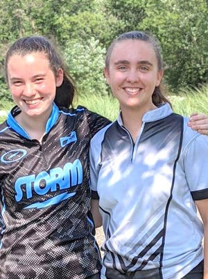 Penn Yan Academy freshman Anella Tillman and alumna Kari Ayers recently participated in the Junior Gold Championship bowling tournament in Indianapolis.
