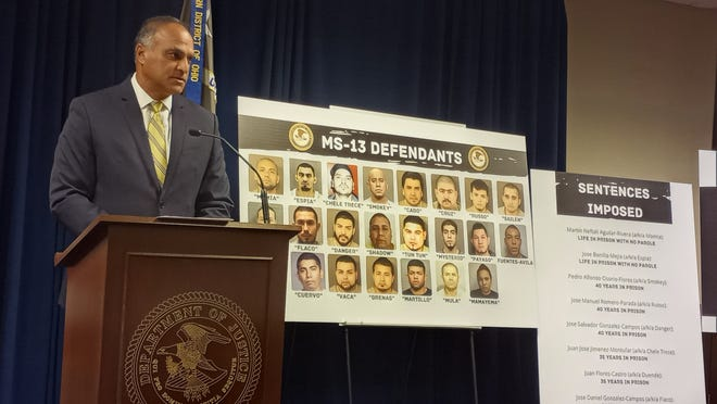 Acting U.S. Attorney Vipal J. Patel recaps convictions against 22 Columbus-area MS-13 members and the brutal acts committed by the transnational street gang. Patel spoke during a press conference Thursday afternoon in Columbus.