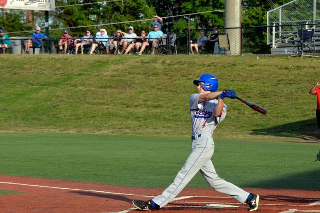 Asheboro's Connor Adams bats in a game against Southwestern Randolph at McCrary Park. Improvements have been proposed for McCrary Park. [Mike Duprez/Courier-Tribune]
