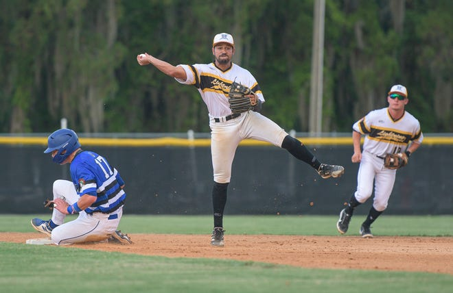 Leesburg's Naphis Llanos (7) throws to first base during a game against Sanford on June 8 at Pat Thomas Stadium-Buddy Lowe Field in Leesburg. [PAUL RYAN / CORRESPONDENT]