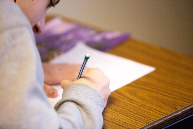A stock photo of a student taking a test. Florida school test scores were released Thursday.