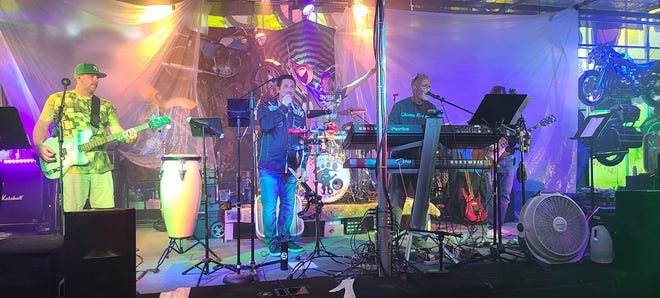 Local Gossip party band will perform Saturday at Point Lookout Vineyards.