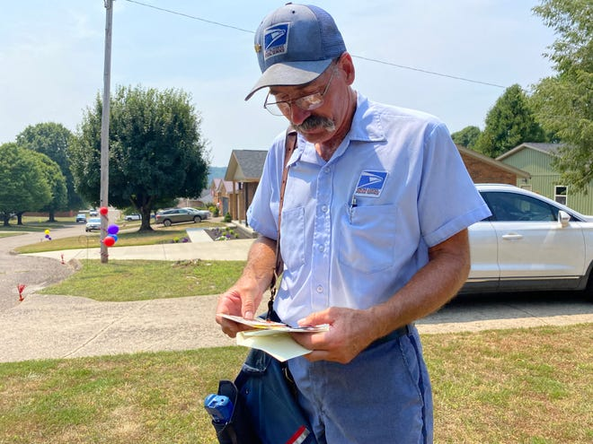 Brent Walter, 56, of LeRoy, is retiring Friday after working for the U.S. Postal Service for 34 years.