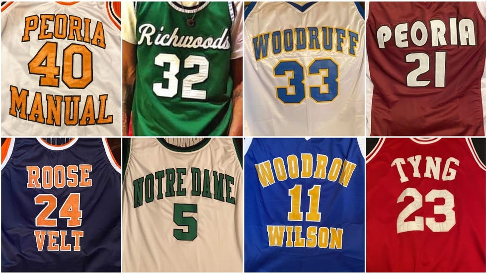 A look at some of the unique jerseys created by Golden Garments and Ray Williams of Peoria.
