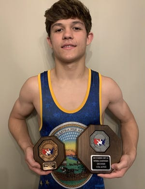 Newton wrestler Nick Treaster finished second in Greco-Roman and eighth in freestyle at the 16U nationals in Fargo. SUBMITTED PHOTO