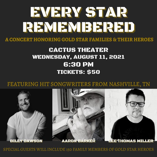 Three prominent Nashville songwriters will appear at Lubbock's Cactus Theater on Aug. 11.
