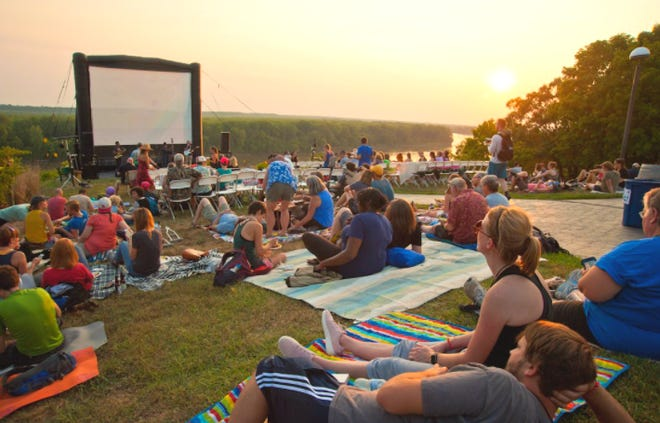 """Dawdlers will enjoy a picnic-style dinner, local refreshments, live music and a screening of the new documentary """"The Neutral Ground"""" at Les Bourgeois Vineyards' Blufftop Bistro in Rocheport."""