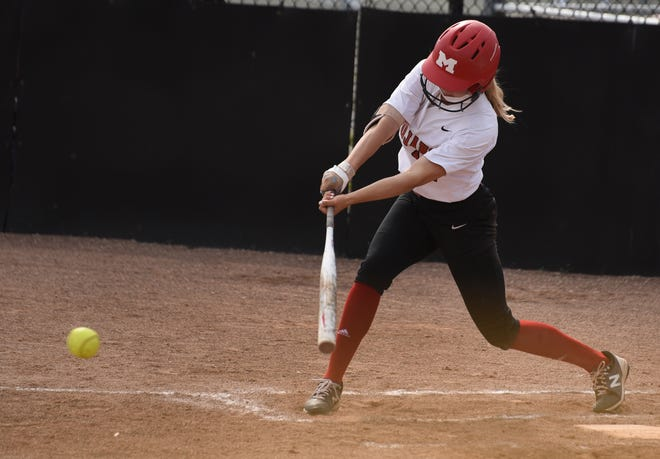 Monroe's Ellie Sieler led the Monroe County Region in batting average, runs and hits in 2021. She will play next year at The University of Michigan.